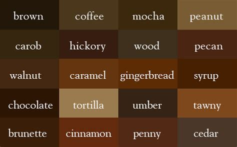 shades of brown paint writer creates color thesaurus to help you correctly name any color imaginable bored panda