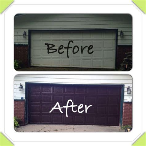 Garage Door Gel Stain Garage Door Makeover Minwax Gel Stain Works Amazing My