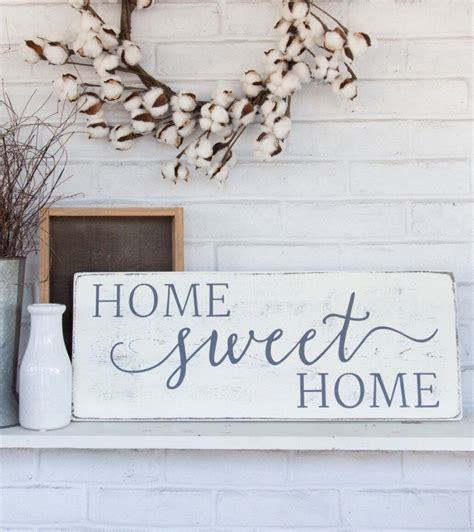 home decor signs home sweet home sign wood framed sign home wall decor