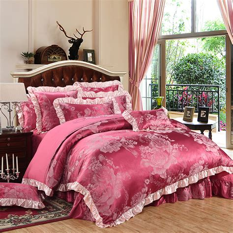 Bedding King Size Sets 100 Cotton Jacquard 2016 Wedding Bedding Sets King Size 4pcs Duvet Cover Bed Sheet