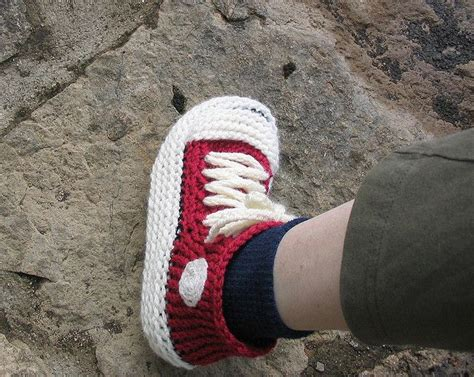 converse knitted slippers pattern grown up chuck s hi top sneaker booties pattern by