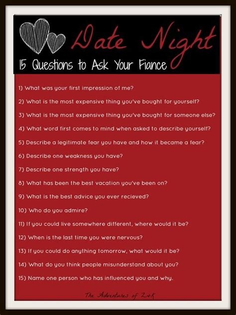 Questions To Ask Husband To Be For Bridal Shower by 17 Best Ideas About Date Questions On