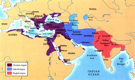 Safavid Empire Map Azerbaijan Safavid Empire Islam In The Ottoman Empire
