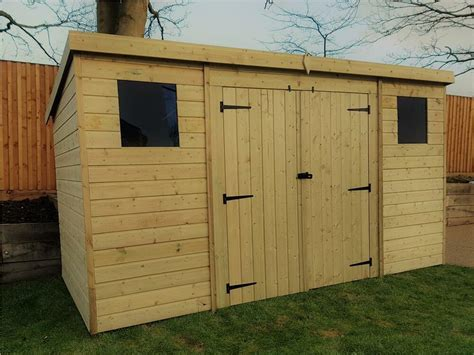 wooden garden shed    pressure treated tongue