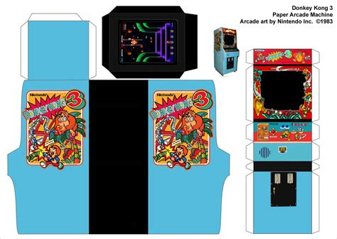 Donkey Kong 3 Paper Arcade Machine A Photo On Flickriver Arcade Website Template