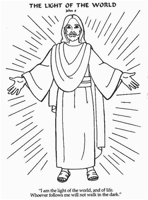 jesus is the light of the world coloring page az