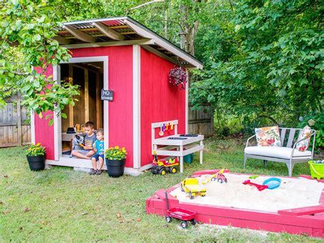 diy backyard playhouse diy playhouse plans hgtv