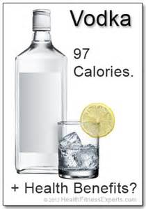how many calories does a of vodka in it