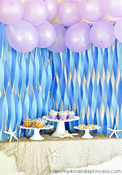Birthday Decoration Ideas For Kids At Home by The Little Mermaid Party A Pumpkin And A Princess