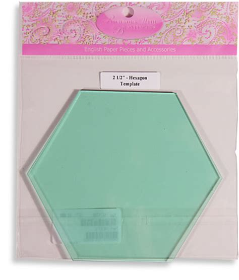 plastic hexagon templates creative grids uk ltd 2 189 inch finished size hexagon