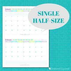 2017 Monthly Planner B5 M half size 2016 monthly calendar printables monthly