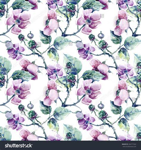 pattern download for blackberry blackberry flower seamless pattern stock illustration
