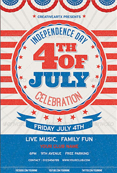 120 best 4th of july u s independence day flyers print