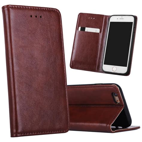 Slim Leather Iphone And Samsung for iphone 6 6s s7 magnetic slim wallet leather phone cover with stand card holder for