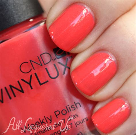 Cnd Vinylux Desert Poppy cnd vinylux 2014 quot open road quot collection swatches all lacquered up