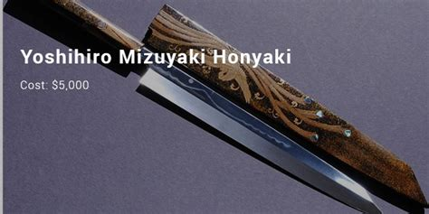 most expensive kitchen knives 8 most expensive priced kitchen knives list expensive