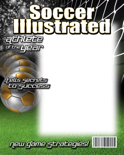 magazine cover template free soccer photo templates