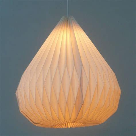 Handmade Paper Lanterns - hanging origami modern white paper pendant l diy