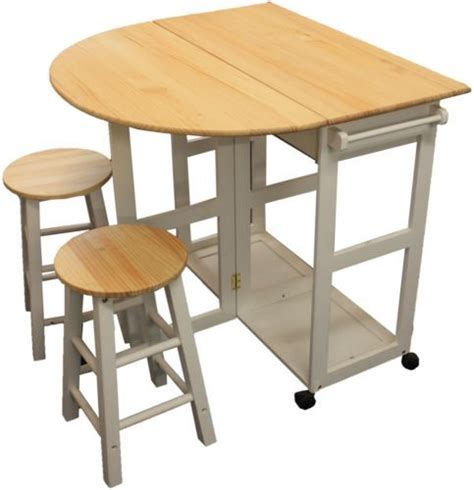 Kitchen Breakfast Bar Table And Stools Maribelle Folding Table And Stool Set Kitchen Breakfast