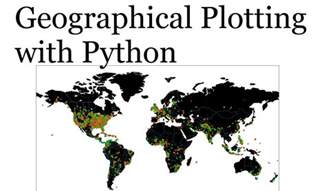 python map function geographical plotting with python part 4 plotting on a map