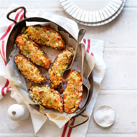 cottage cheese sweet recipes cottage cheese and leek stuffed sweet potatoes healthy