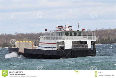 ferry boat lake michigan lake michigan car ferry royalty free stock photography