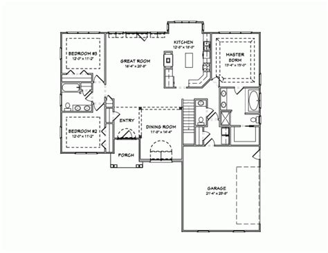 1890 house plans traditional style house plans 1890 square foot home 1 story 3 bedroom and 2 bath