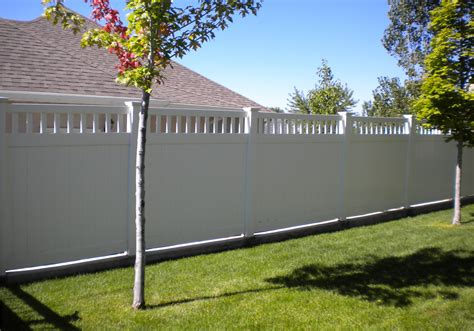 Backyard Fly Control White Vinyl Privacy Fence Panel Outdoor Decorations