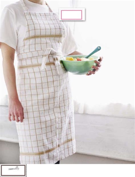 apron pattern from dish towel making an apron out of tea towels hobby sewing aprons