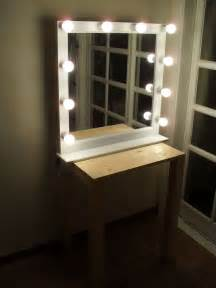 Makeup Vanity With Led Lights Lighting Mirror Socket 10ea For Make Up Or Starlet Lighted