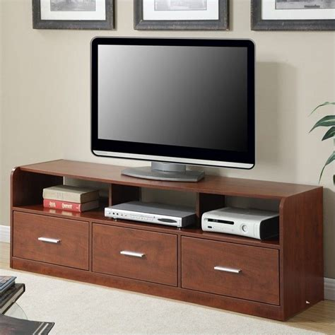 rooms to go tv stand 60 quot 3 drawer tribeca tv stand in cherry 151311ch