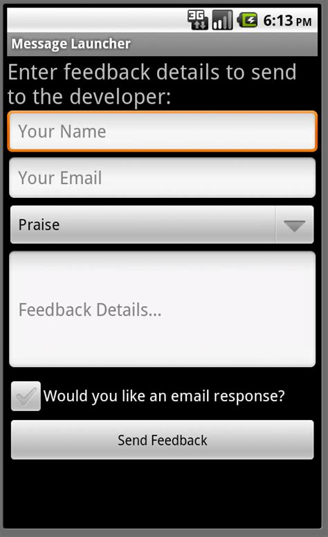 tutorial android form android essentials creating simple user forms