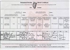 Certificate Template Ireland by What Does A Form Birth Cert Look Like Anyway
