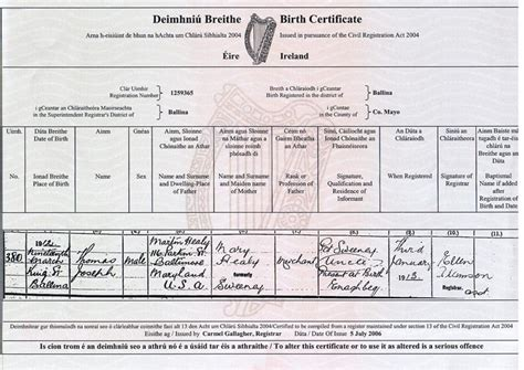 full birth certificate ireland site map goballycastle com personalized affordable
