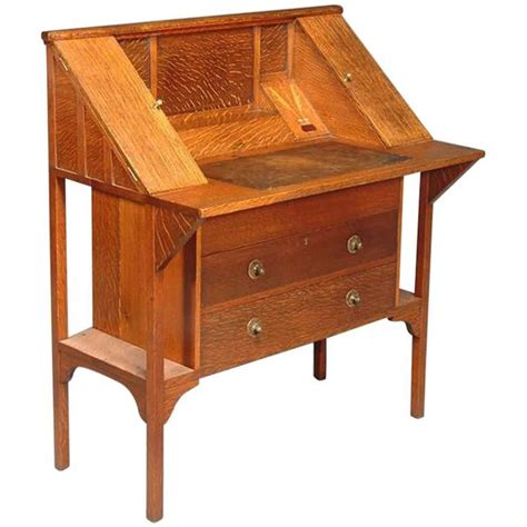 Craft Desks For Sale by Arts And Crafts Oak Writing Desk By G M Ellwood For Sale