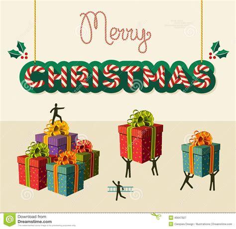 merry christmas teamwork card illustration stock vector image
