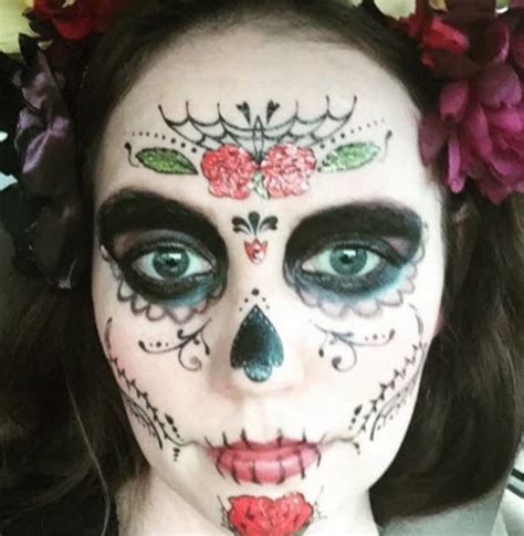 rose face tattoo glitter roses mask tattoos for