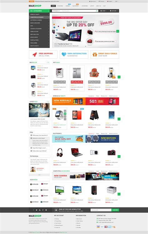 Ecommerce Html Template maxshop responsive multi purpose ecommerce html