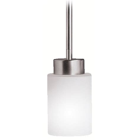 Modern White Pendant Light Kichler Modern Mini Pendant Light With White Glass 3030ni Destination Lighting