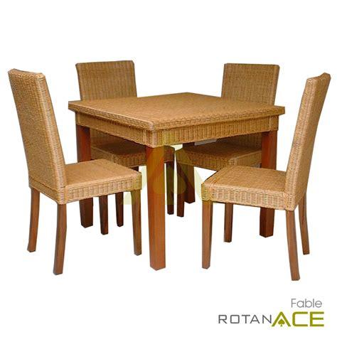 Meja Makan Rotan jual fable meja makan rotan set 4 seats harga lebih murah