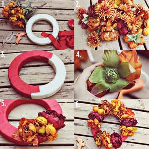 Best Color For Bedroom Walls autumn floral wreath project a beautiful mess