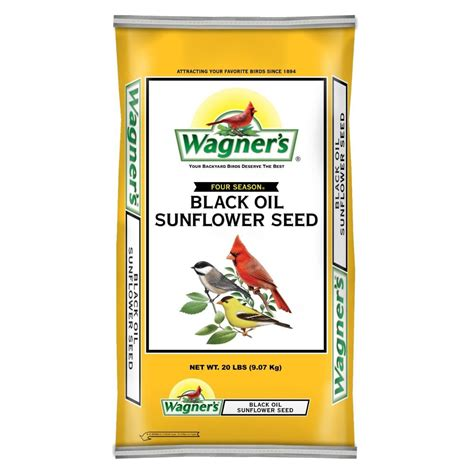 black sunflower seeds cardinals coupons for wagner s wildlife food 20 lb four season