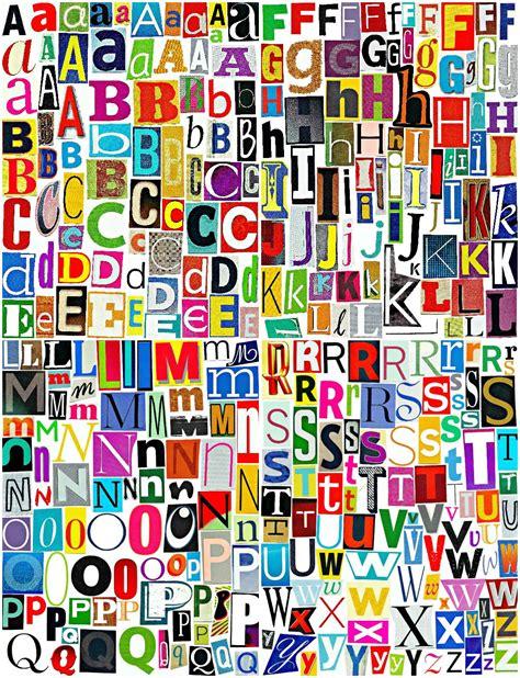 Printable Magazine Letters | multicolor set 3 printable digital alphabet a to z magazine