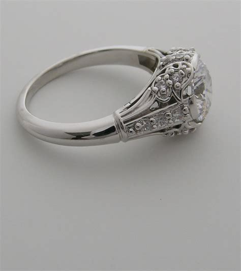 Engagement Ring Settings by Beautiful Deco Antique Style Accent Engagement