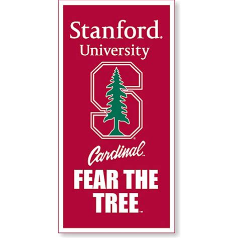 stanford school colors stanford cardinal 18 x 36 banner stanford