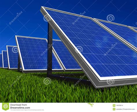 solar panels system green energy from sun stock images