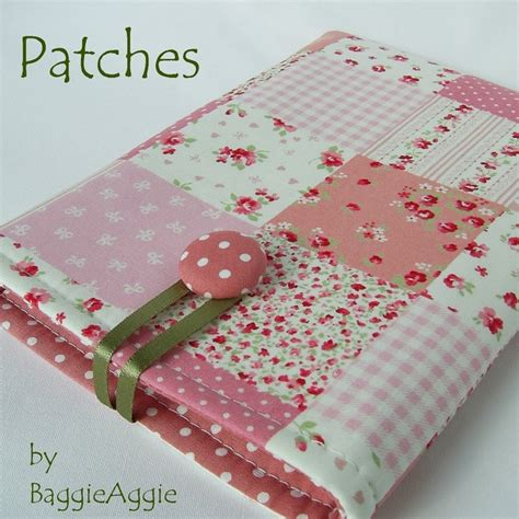 patches shabby chic patchwork polka dot kindle case