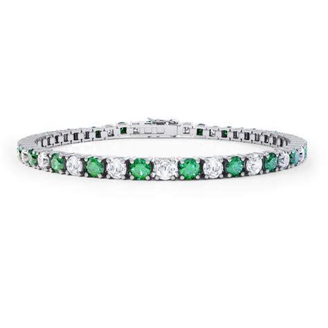 18ct white gold tennis bracelet eternity emerald 18ct white gold tennis bracelet jian
