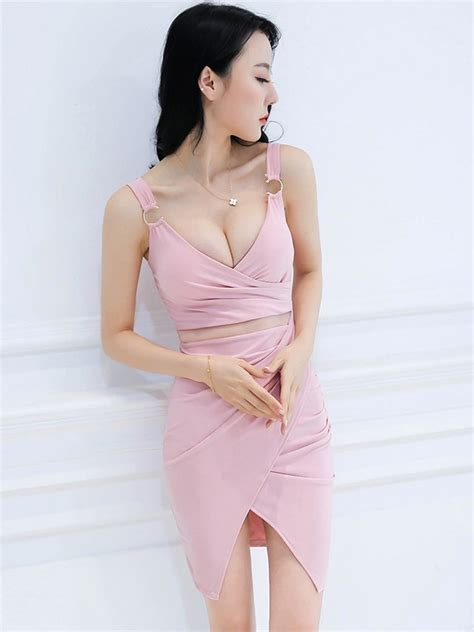 Tulip V Neck Dress W9910 wholesale v neck backless tulip dress azj051040