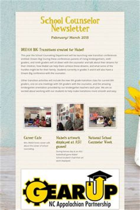 The Creative School Counselors A Brochure On Your School Counseling Program School Free Newsletter Templates For School Counselors